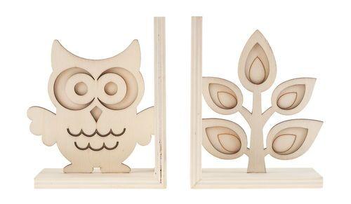Fa könyvtámasz - bagoly & fa 2 db - OPITEC-Hobbyfix - kreatív hobby és művészellátás - Márkák szuper áron!