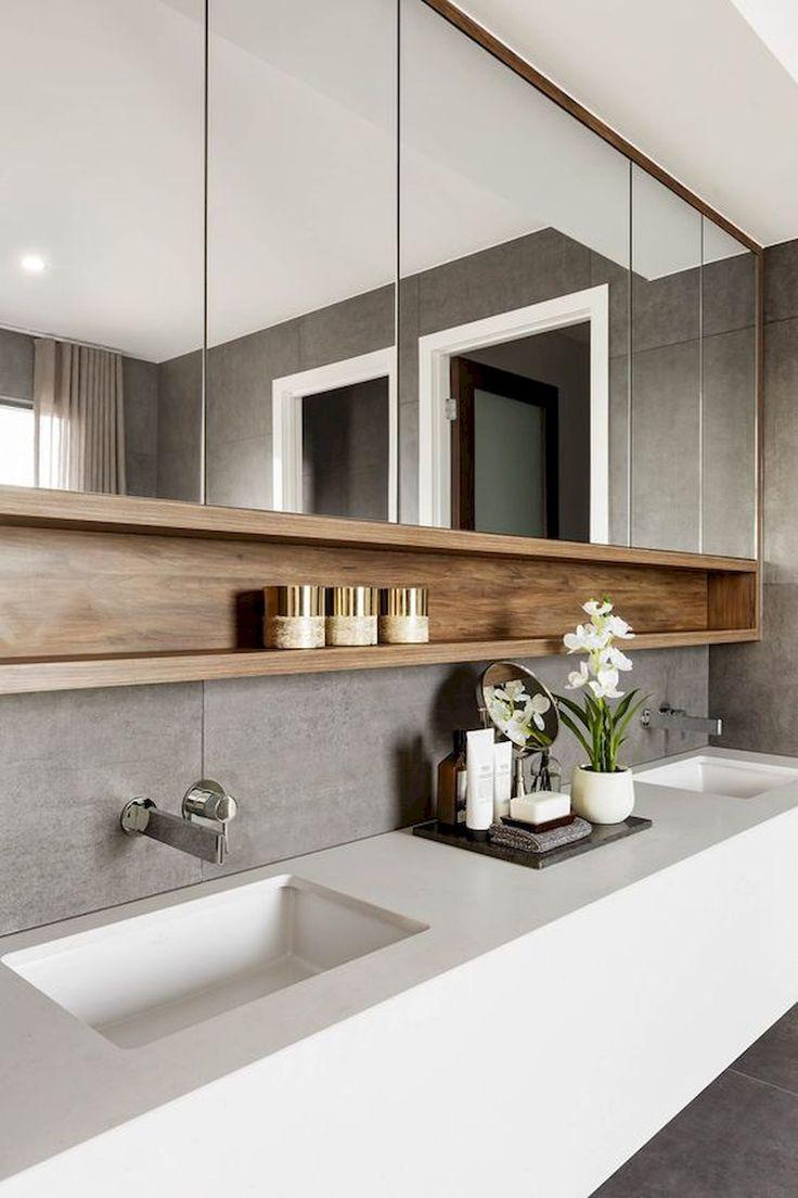 Adorable 55 Stunning Farmhouse Bathroom Mirror Design Ideas And Decor source : g…