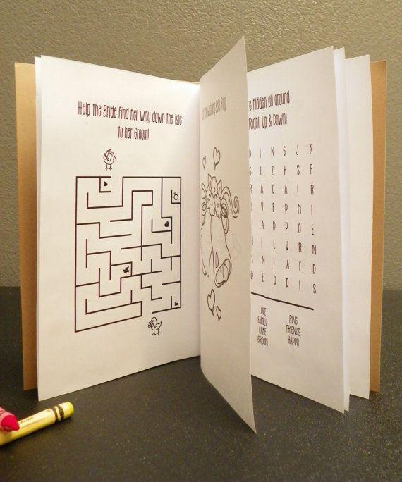 Wedding kid activity book kid coloring book. by UnhingedDesigns