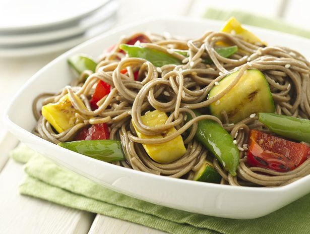 Sesame Ginger Grilled Vegetables and Soba Noodles #MeatlessMonday @Betty Crocker