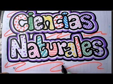 Como marcar un cuaderno de ciencias naturales - YouTube