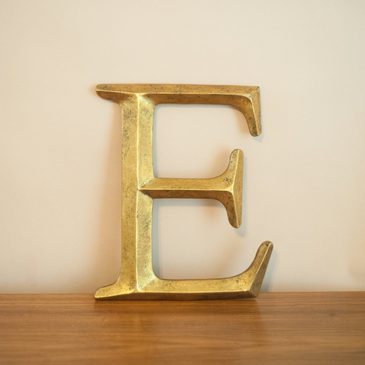 gilded wooden letter e vintage initial e wall letter wall hanging gold letter