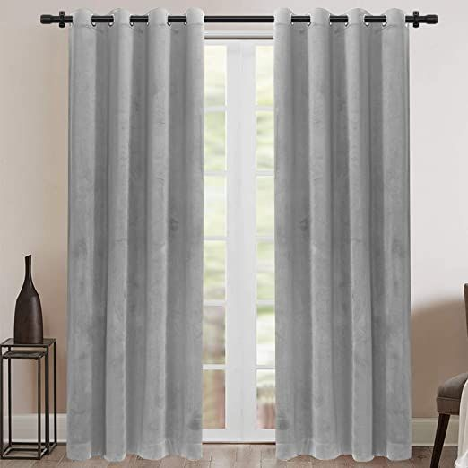 Rose Home Fashion Velvet Curtains For Living Room Soft Luxury Thermal Insulated Curtains Grommet Cur Insulated Curtains Curtains Living Room Velvet Curtains