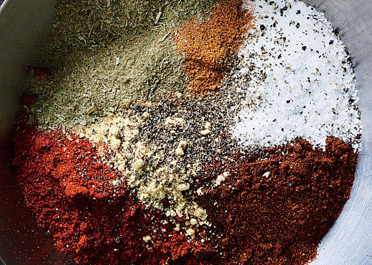 Bobby Flay uses this spice rub for salmon, or on chicken thighs that are braised and then layered in tacos.