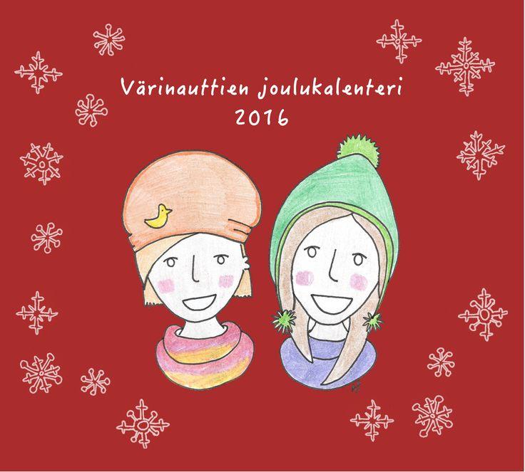 Värinauttien joulukalenteri 2016, joka päivä uusi tarina ja värityskuva