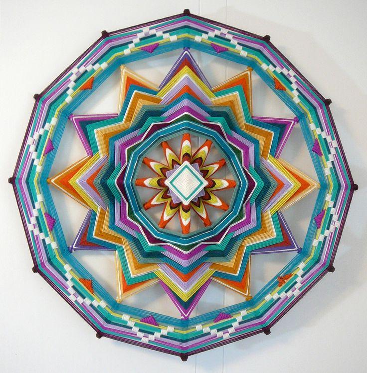 Sound of Silence, a 24 inch, 12-sided, Ojo de Dios Mandala. LOVE!