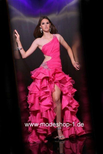 Cut Out Abendkleid in Pink