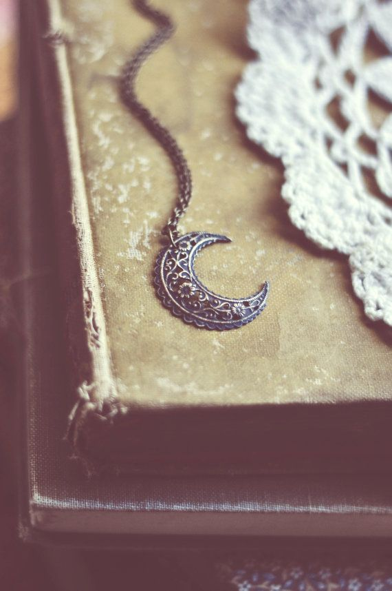 bohemian moon necklace. by bellehibou on Etsy