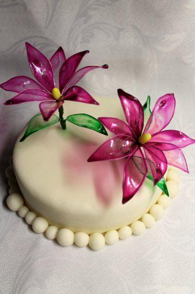 gyönyörű virágok zselatinból