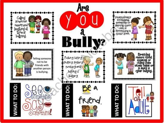 "Are YOU a Bully? Bullying Bulletin Board from The Bulletin Board Lady on TeachersNotebook.com -  (14 pages)  - Are YOU a bully? This bulletin board kit describes what bullying is with pictures and words that kids understand. This bulletin board contains 8 different descriptions of bullying and three ""What to Do"" ideas.  Easy to display. Get it, print it,"