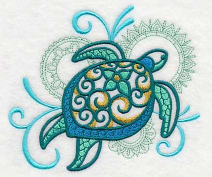Turtle Towel – Sea Turtle – Embroidered Towel – Flour Sack Towel – Hand Towel – Bath Towel – Apron