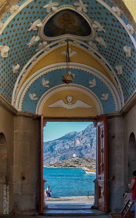 Pictografio: Panormitis monastery entrance