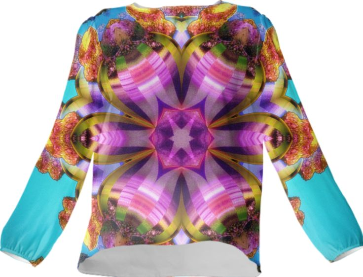 Silk top by Annabellerockz from Print All Over Me