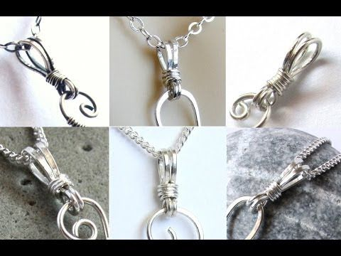 Jewelry Tutorial : Wire Wrapped Bail for Pendants - YouTube