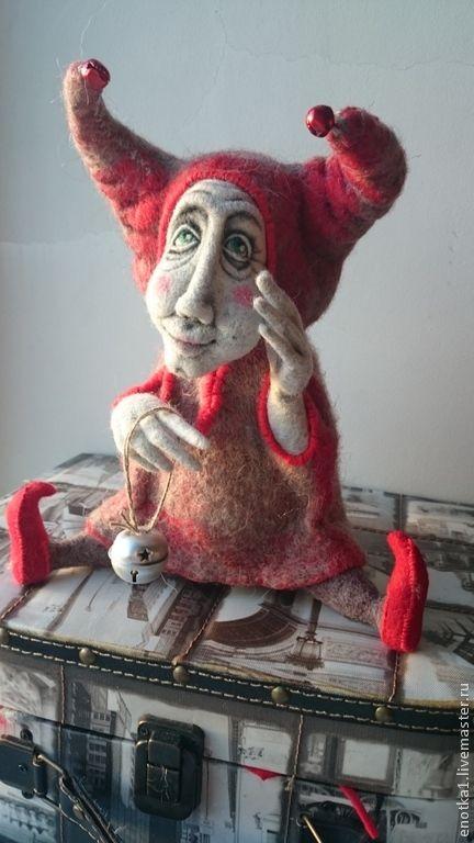 Купить Триньколо - авторская ручная работа, авторская работа, авторская игрушка, авторская кукла, Валяние