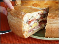 Pizza Chena- my grandmother called it Pizza Rustica and we had it on St. Joseph's Day and Easter Sunday.
