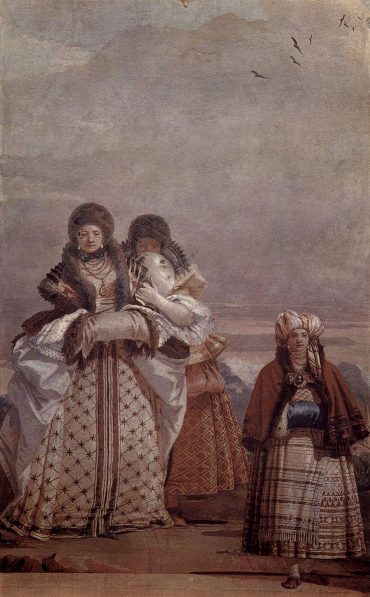 Giovanni Domenico Tiepolo Spaziergang im Winter