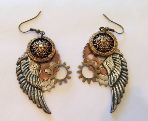 Steampunk earrings - JEWELRY AND TRINKETS