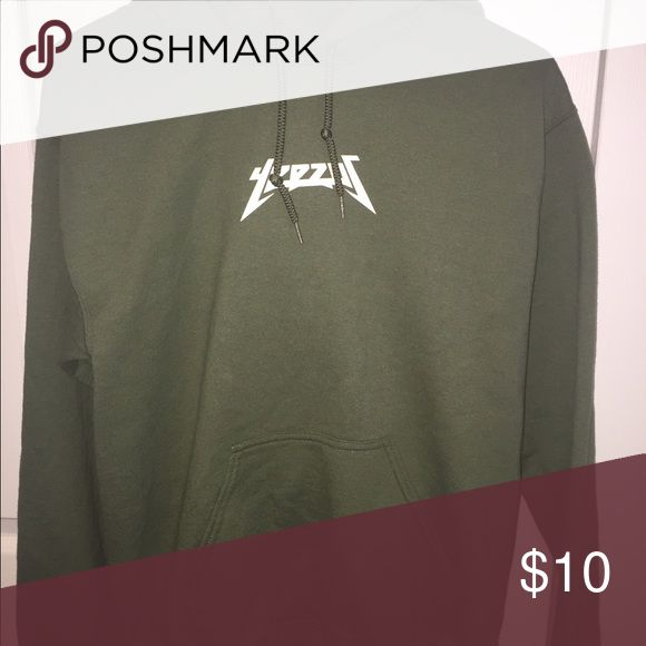 YEEZUS hoodie (look alike) Olive green look alike yeezus merch hoodie. No tags but never before worn :) Tops Sweatshirts & Hoodies