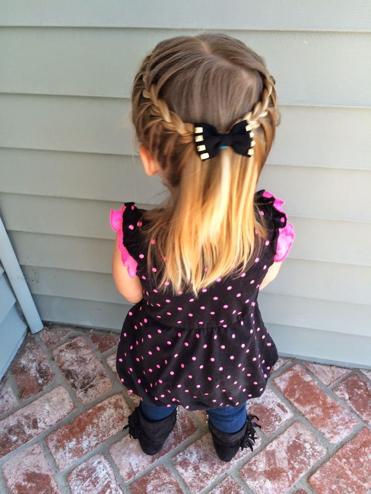 Help for your Toddler's Hair! Several styles including different versions of simple braids.