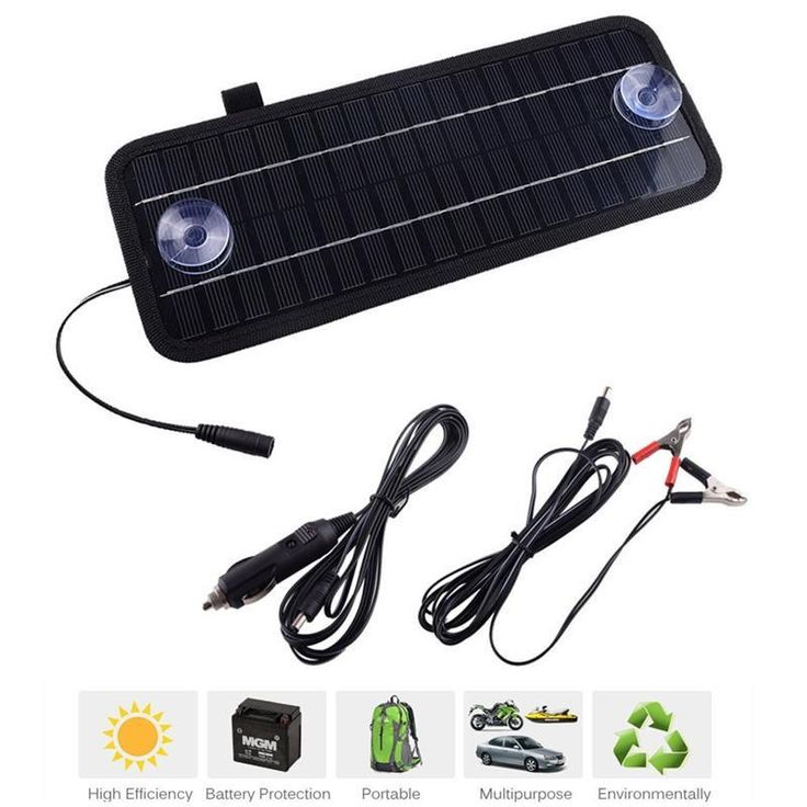 CLEARENCE EVENT. 12V 4.5W Solar Panel Portable Monocrystalline Solar Charger Module System For Cars, on Sale.