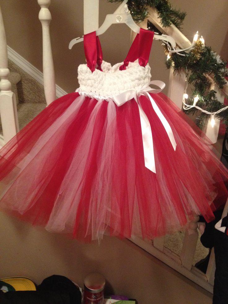 Red and white tutu dress