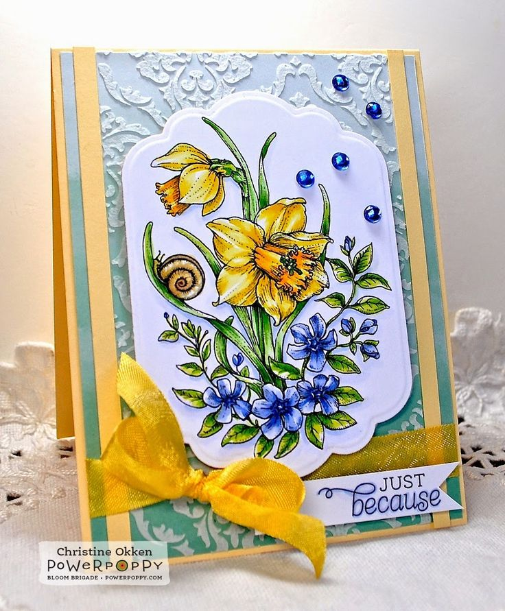 ChristineCreations: Dancing with Daffodils digital stamp set by Power Poppy!