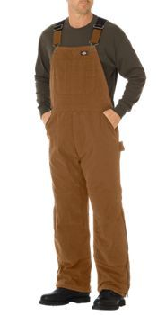 Sanded Duck Insulated Bib Overall | Mens Bib Overalls | Dickies
