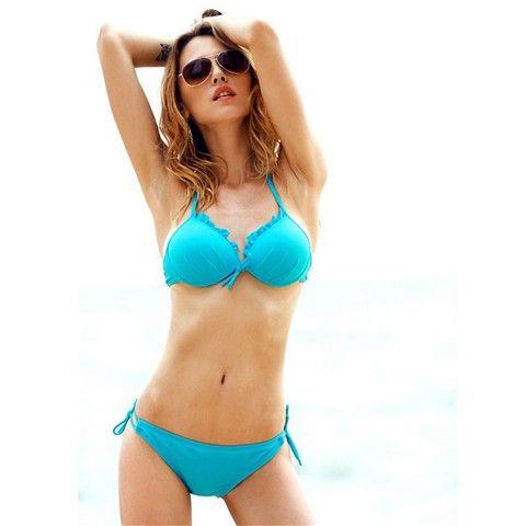 Ruffle Sexy Bikini - Cyan  $9.57