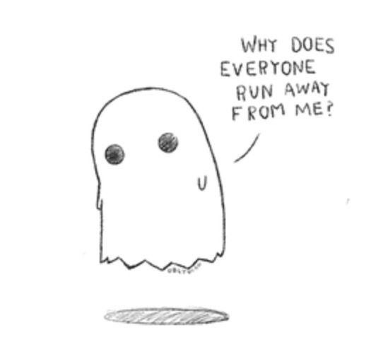 Poor little ghost..