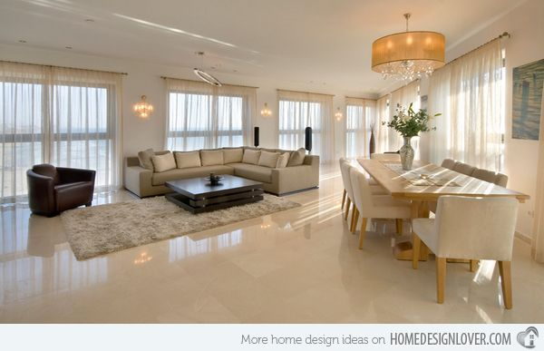 15 classy living room floor tiles table and chairs design and living room designs - Home Design Lover
