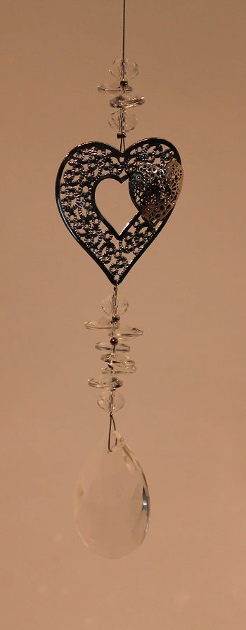 Crystal Heart Suncatcher  #heart #suncatcher