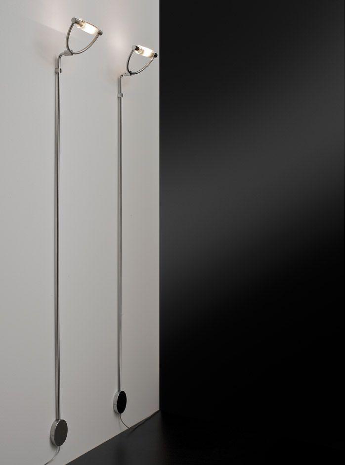 ARCHETTO lampada parete-terra - Citylux - ARCHETTO parete-terra, lampada da parete s in due varianti di finitura: nichel spazzolato o cromo lucido. Il vetro pirex  è disponibile in tre tipologie: tutto satinato, serigrafato quadri e serigrafato bianco.