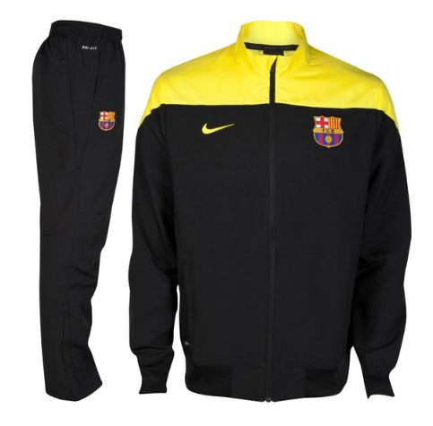 44f695c6b8330 barcelona tracksuit black yellow FC Barcelona Official Merchandise ...
