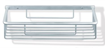 E 6992 - E 6992 - Cestino porta spugna, color alluminio cromato o verniciato metallizzato, 350x140x80