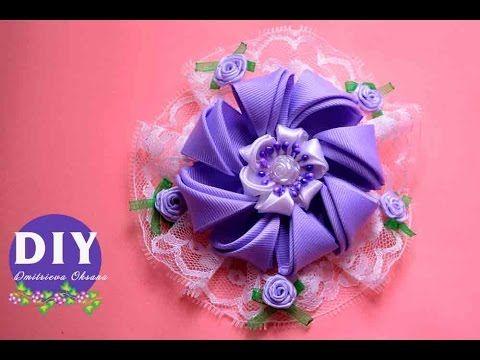 Diy Hermosa flor tela organza o tul y cordón cola de ratón. Organza Bows…