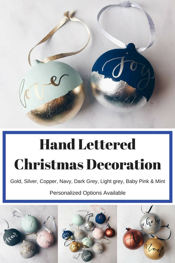 Personalized hand lettered Christmas bauble - What a gift idea ...