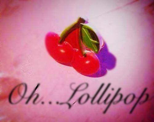 Oh Lollipop Juicy Red Cherry Pinup Rockabilly Adjustable Ring Kawaii Kitsch