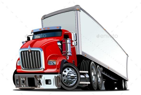 Cartoon Semi Truck Trucks Semi Trucks Truck Detailing