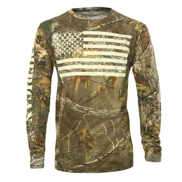 Cody James® Men's Camo American Flag Long Sleeve Shirt