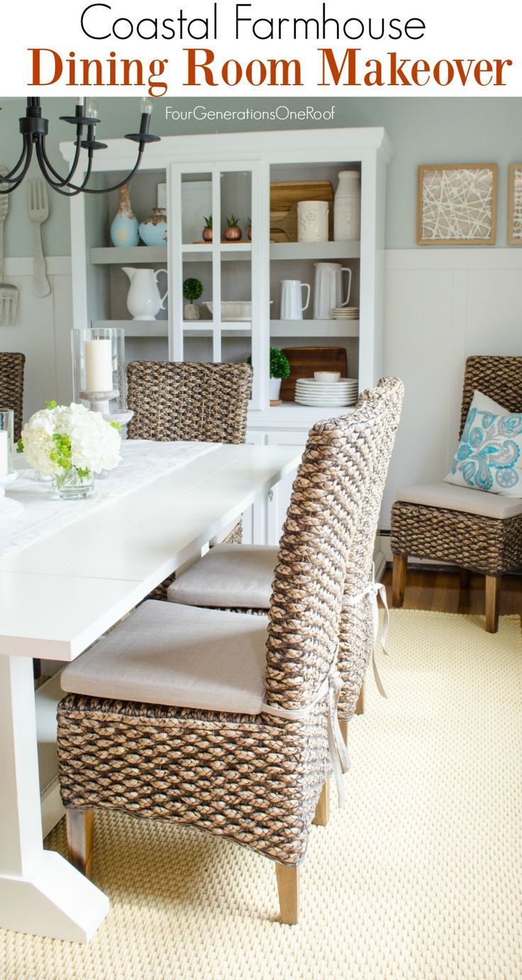 Dining Room Makeover {coastal