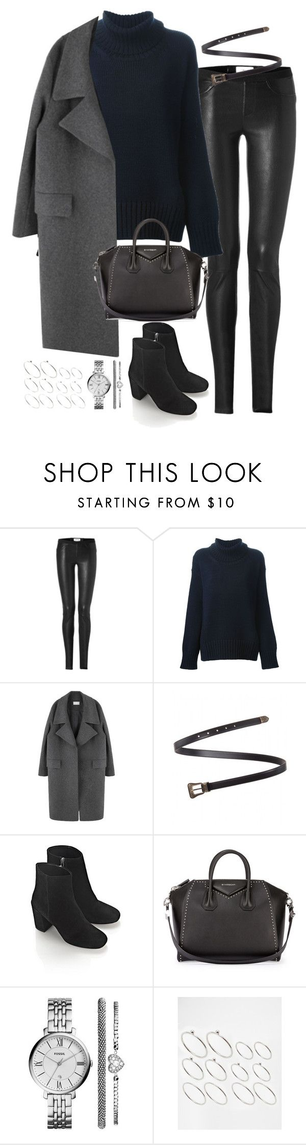 """""""Untitled#4089"""" by fashionnfacts ❤ liked on Polyvore featuring Helmut Lang, Forte Forte, Yves Saint Laurent, Alexander Wang, Givenchy, FOSSIL and ASOS"""