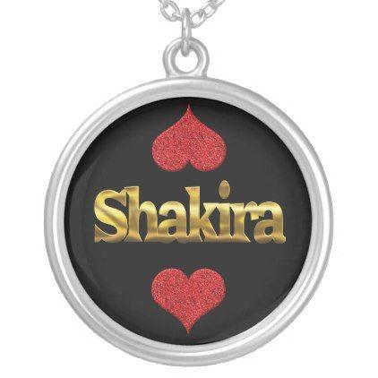 Shakira necklace - birthday gifts party celebration custom gift ideas diy