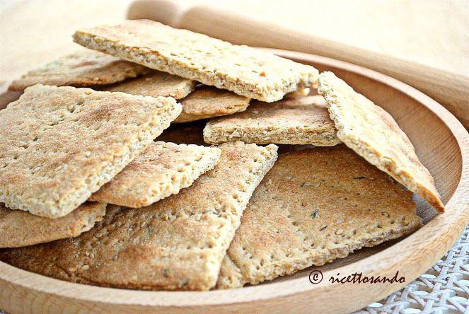 Crackers integrali al sesamo