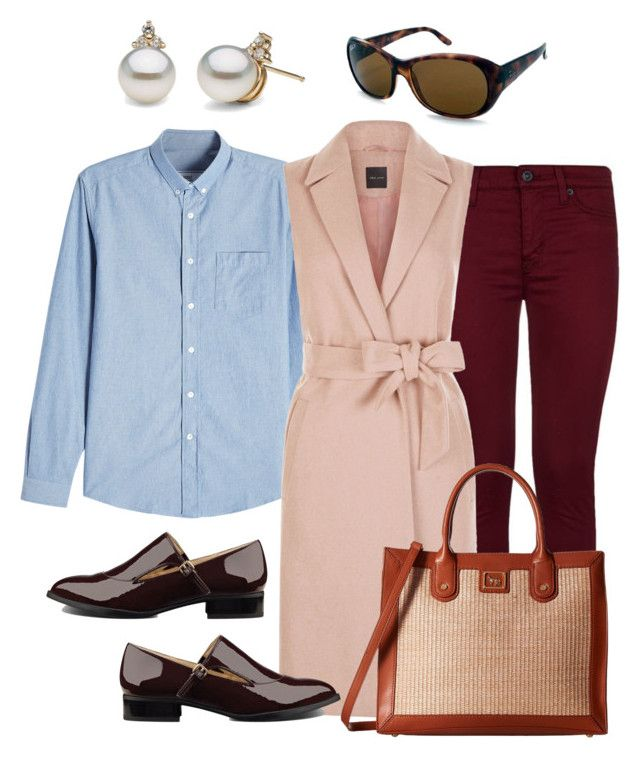 Fondly remembering colourful skinny jeans by yfantjie on Polyvore featuring AMI, Hudson, Nine West, Emma Fox, Ray-Ban, polyversary and contestentry