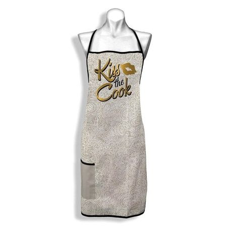 Kiss The Cook Apron, Gold
