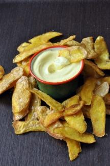 La dernière recette de Pascale Weeks ... des chips d'épluchure de pomme de terre ! j'adore ! et vive le recyclage =) !
