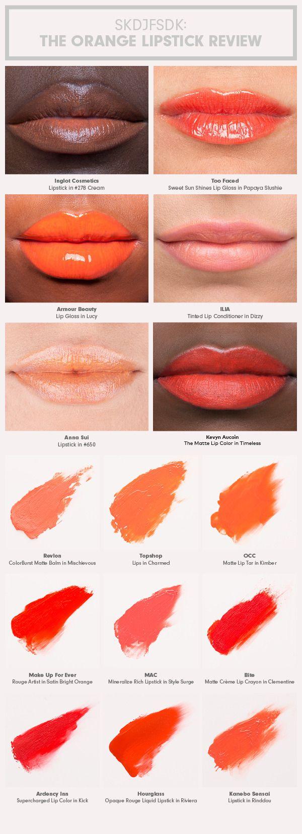 Sunny Side Up: The Orange Lipstick Review | Beautylish