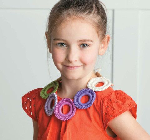 Collars For Kids: Little girls love to dress up, and these tie-on collars make fun, easy, and inexpensive fashion accessories! The 12 pretty styles by Cony Larsen present innovative techniques & accents for beginners to enjoy creating with cotton thread or yarn of various weights. Contents also include crochet basics and finishing tips. Collars For Kids (LA6379) is available from MaggiesCrochet.com
