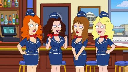 american dad naughty stewardess | American Dad Season 9 Episode 11 Introducing the Naughty Stewardesses ...